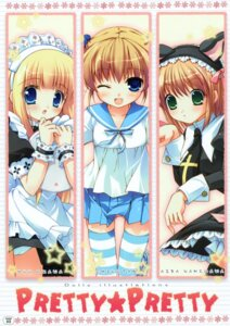 Rating: Questionable Score: 14 Tags: cameltoe chikotam lolita_fashion maid namegawa_aira ozawa_yuu seifuku thighhighs User: syaoran-kun