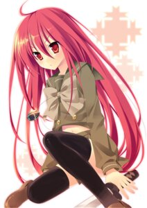 Rating: Safe Score: 7 Tags: chany seifuku shakugan_no_shana shana sword thighhighs User: Radioactive