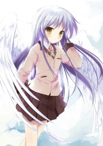 Rating: Safe Score: 49 Tags: angel_beats! mycstea seifuku tenshi wings User: blooregardo