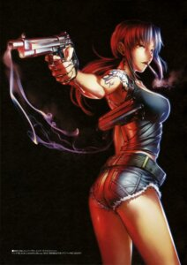Rating: Safe Score: 51 Tags: ass black_lagoon gun hiroe_rei revy smoking tattoo User: drop