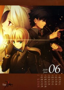 Rating: Safe Score: 19 Tags: business_suit calendar emiya_kiritsugu fate/stay_night fate/zero irisviel_von_einzbern saber takeuchi_takashi type-moon User: Kalafina