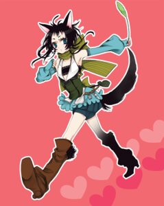 Rating: Safe Score: 7 Tags: animal_ears kakiko nekomimi tail User: Nekotsúh