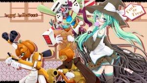 Rating: Safe Score: 24 Tags: halloween hatsune_miku ichiju megane thighhighs vocaloid wallpaper User: Nekotsúh
