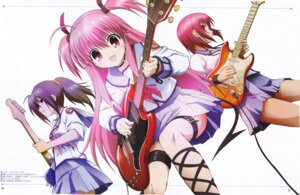 Rating: Safe Score: 40 Tags: angel_beats! guitar hisako iwasawa scanning_artifacts tail yui_(angel_beats!) User: sagkhaara
