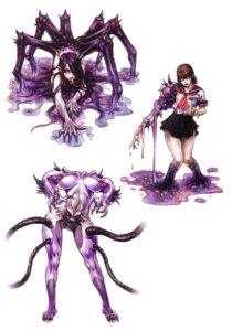 Rating: Questionable Score: 10 Tags: monster monster_girl nipples seifuku yamashita_shunya User: Radioactive