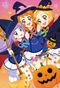 Rating: Safe Score: 11 Tags: aikatsu! halloween heels hikami_sumire oozora_akari sakai_kasumi seifuku shinjou_hinaki witch User: drop