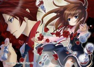 Rating: Safe Score: 5 Tags: blood business_suit natsumi_kei skirt_lift umineko_no_naku_koro_ni ushiromiya_battler ushiromiya_maria User: Tharizdun