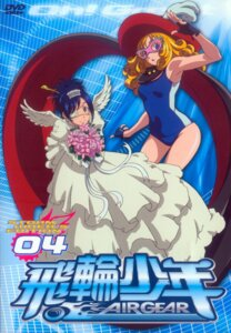 Rating: Safe Score: 7 Tags: air_gear disc_cover dress eyepatch sato_masayuki school_swimsuit swimsuits trap wanijima_akito wedding_dress wings User: Radioactive