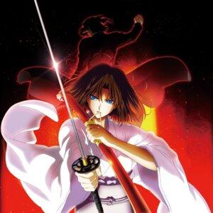 Rating: Safe Score: 21 Tags: araya_souren kara_no_kyoukai kimono ryougi_shiki sword User: demonbane1349