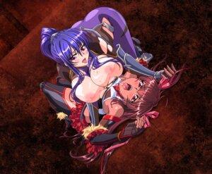 Rating: Questionable Score: 39 Tags: akiyama_rinko armor bodysuit breasts heels mizuki_yukikaze nipples no_bra tagme taimanin_yukikaze thighhighs torn_clothes yuri User: blooregardo
