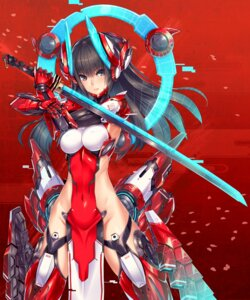Rating: Questionable Score: 103 Tags: 2d bodysuit mecha_musume nopan sword User: fairyren
