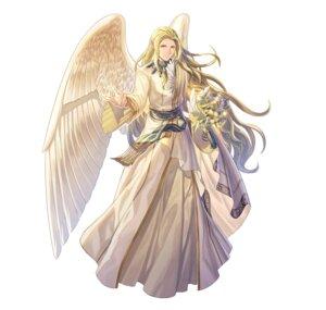 Rating: Questionable Score: 4 Tags: angel fire_emblem fire_emblem:_souen_no_kiseki fire_emblem_heroes nintendo pointy_ears rafiel shimomura_watari wings User: fly25