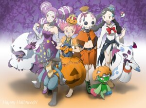 Rating: Safe Score: 22 Tags: froslass halloween lucario mismagius pokemon roserade User: Shamensyth