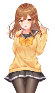 Rating: Questionable Score: 39 Tags: kunikida_hanamaru love_live!_sunshine!! pantyhose seifuku shouu-kun sweater User: sym455