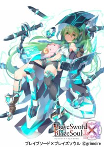 Rating: Questionable Score: 11 Tags: brave_sword_x_blaze_soul mecha_musume tagme thighhighs weapon User: Dreista
