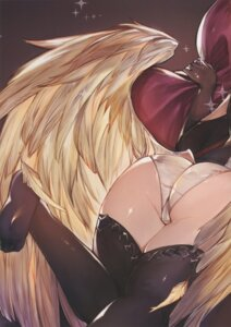 Rating: Questionable Score: 37 Tags: ass cameltoe feet granblue_fantasy pantsu stitchme thighhighs wings User: paomao