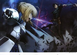Rating: Safe Score: 24 Tags: fate/stay_night fate/zero itagaki_atsushi lancer_(fate/zero) saber User: Radioactive