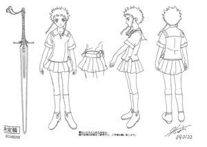 Rating: Safe Score: 3 Tags: character_design hisayuki_hirokazu mai_hime minagi_mikoto seifuku sword User: Radioactive