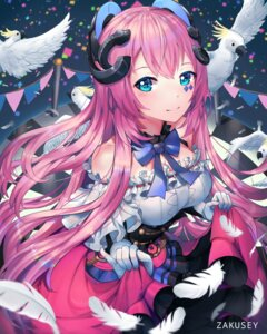 Rating: Safe Score: 19 Tags: cleavage dress megurine_luka skirt_lift tattoo vocaloid zakusey User: whitespace1