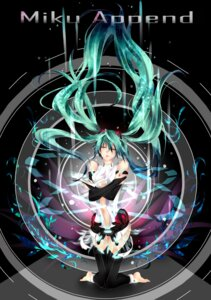 Rating: Safe Score: 11 Tags: hatsune_miku miku_append thighhighs tyouya vocaloid vocaloid_append User: eridani