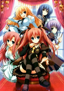 Rating: Safe Score: 63 Tags: akatsuki_no_goei kanzaki_moe kurayashiki_tae lolita_fashion maid mugenkidou nikaidou_aya nikaidou_reika seifuku thighhighs tomose_shunsaku tsuki User: midzki