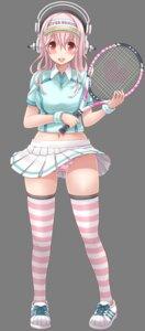 Rating: Questionable Score: 15 Tags: cameltoe gym_uniform headphones mag_kan pantsu skirt_lift sonico super_sonico tennis thighhighs transparent_png v-mag User: Nico-NicoO.M.