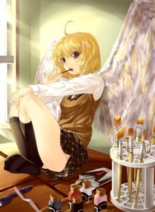Rating: Safe Score: 13 Tags: detchi_oyabun seifuku wings User: charunetra
