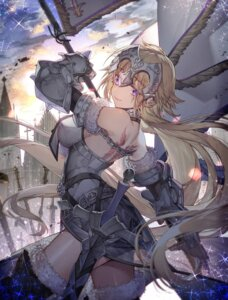 Rating: Safe Score: 70 Tags: armor fate/apocrypha fate/grand_order fate/stay_night jeanne_d'arc jeanne_d'arc_(fate) krage_(32700181) sword tattoo thighhighs User: mash