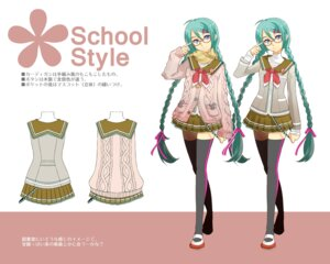 Rating: Safe Score: 15 Tags: hatsune_miku megane seifuku thighhighs toba_kyouko vocaloid User: Radioactive