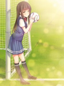 Rating: Safe Score: 45 Tags: hiiragi_hazime seifuku soccer stockings thighhighs User: tbchyu001