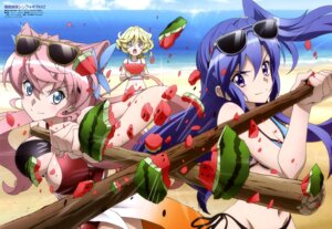Rating: Safe Score: 31 Tags: bikini cleavage elfnein hanyuu_(artist) kazanari_tsubasa maria_cadenzavuna_eve megane senki_zesshou_symphogear senki_zesshou_symphogear_axz swimsuits weapon User: drop