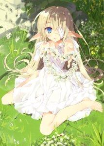 Rating: Safe Score: 142 Tags: bandages dress elf pointy_ears tsurusaki_takahiro User: Twinsenzw