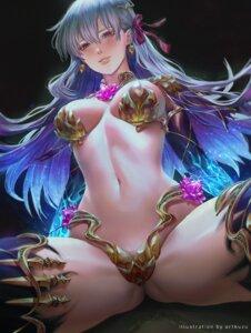 Rating: Questionable Score: 22 Tags: armor artofkuzu bikini_armor fate/grand_order garter kama_(fate/grand_order) thighhighs User: Humanpinka