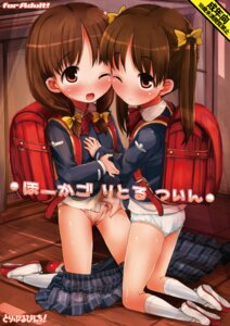 Rating: Questionable Score: 20 Tags: hikami_izuto loli pantsu seifuku undressing yuri User: blooregardo