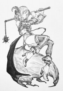 Rating: Safe Score: 7 Tags: heels horns monochrome pointy_ears tagme weapon User: Radioactive