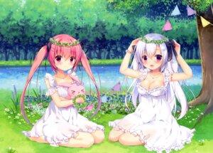 Rating: Safe Score: 29 Tags: canvas+garden cleavage dress miyasaka_miyu niwasaka_rira no_bra shionomiya_richer summer_dress tagme User: lightsnow