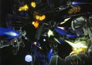 Rating: Safe Score: 8 Tags: gundam gundam_unicorn jegan_type_d mecha rezel User: Radioactive