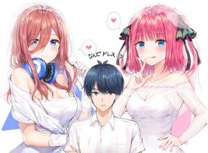 Rating: Safe Score: 36 Tags: 5-toubun_no_hanayome cleavage dress headphones nakano_miku nakano_nino see_through tagme uesugi_fuutarou wedding_dress User: Spidey