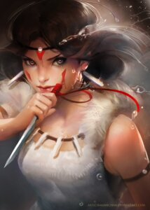 Rating: Safe Score: 60 Tags: mononoke_hime sakimichan san watermark User: charunetra