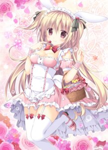 Rating: Safe Score: 64 Tags: animal_ears bunny_ears cleavage heels korie_riko stockings thighhighs User: fairyren