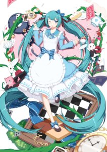Rating: Safe Score: 35 Tags: alice_in_wonderland cosplay dress hatsune_miku neko sugar_sound vocaloid User: Mr_GT