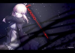Rating: Safe Score: 34 Tags: fate/grand_order magicians saber saber_alter sword thighhighs User: RyuZU
