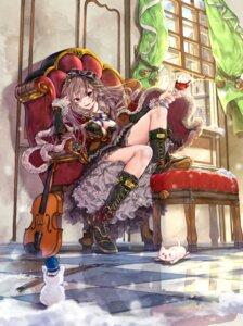 Rating: Safe Score: 16 Tags: amatou_(artist) cleavage dress heels lolita_fashion neko no_bra User: Mr_GT