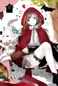 Rating: Safe Score: 16 Tags: gun little_red_riding_hood_(character) megane prin_dog thighhighs User: charunetra