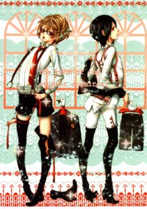 Rating: Safe Score: 5 Tags: ade_kan megane nao_tsukiji thighhighs User: Radioactive