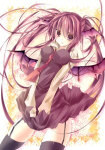 Rating: Questionable Score: 44 Tags: kisaragi_kiriha koakuma nopan stockings thighhighs touhou wings User: mash