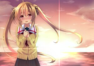Rating: Safe Score: 29 Tags: kantai_collection murasame_(kancolle) purunyara seifuku sweater User: Mr_GT