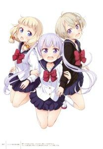 Rating: Safe Score: 40 Tags: hoshikawa_hotaru new_game! sakura_nene seifuku suzukaze_aoba sweater tokunou_shoutarou User: Twinsenzw