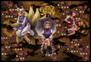 Rating: Safe Score: 9 Tags: animal_ears chen kurione tail touhou yakumo_ran yakumo_yukari User: Mr_GT