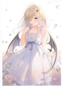 Rating: Safe Score: 58 Tags: dress heterochromia mafuyu_(chibi21) ruty summer_dress tail wings User: kiyoe